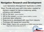 navigation research and development