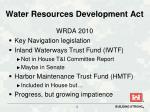water resources development act