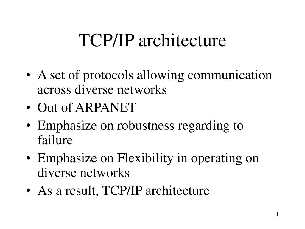 tcp ip architecture l.