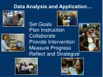 data analysis and application