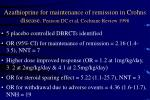 azathioprine for maintenance of remission in crohns disease pearson dc et al cochrane review 1998