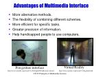 advantages of multimedia interface