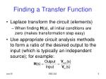 finding a transfer function