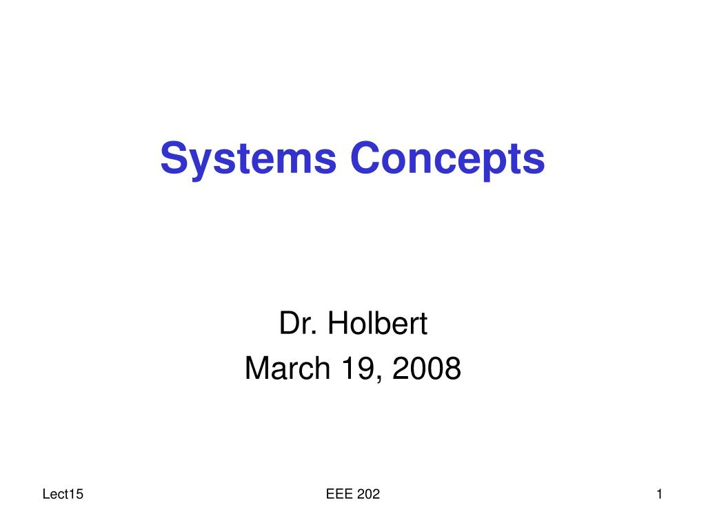 systems concepts l.