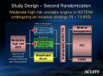 study design second randomization