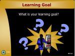 learning goal