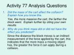 activity 77 analysis questions