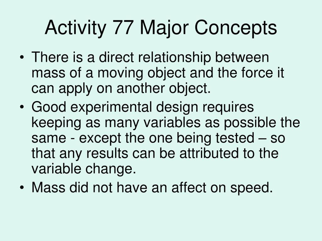 activity 77 major concepts l.