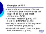 examples of pbf