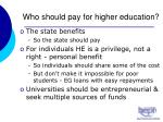 who should pay for higher education