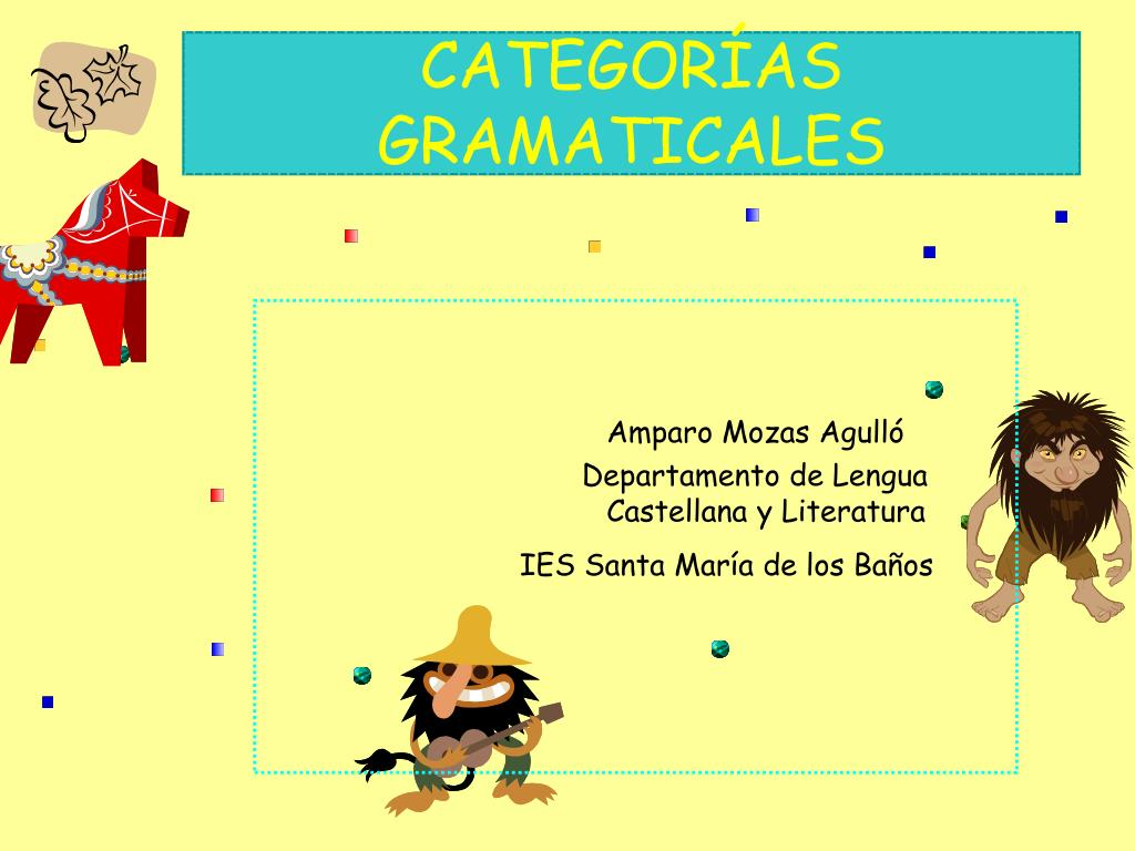 categor as gramaticales l.