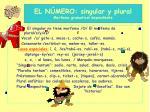el n mero singular y plural morfema gramatical dependiente
