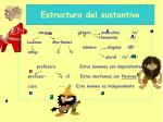 estructura del sustantivo