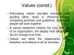 values contd