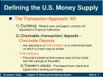 defining the u s money supply