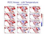 roc areas jja temperature above normal
