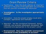 grant review criteria