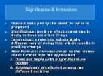 significance innovation