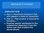 significance innovation23