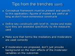tips from the trenches cont