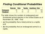 finding conditional probabilities