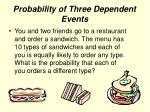 probability of three dependent events