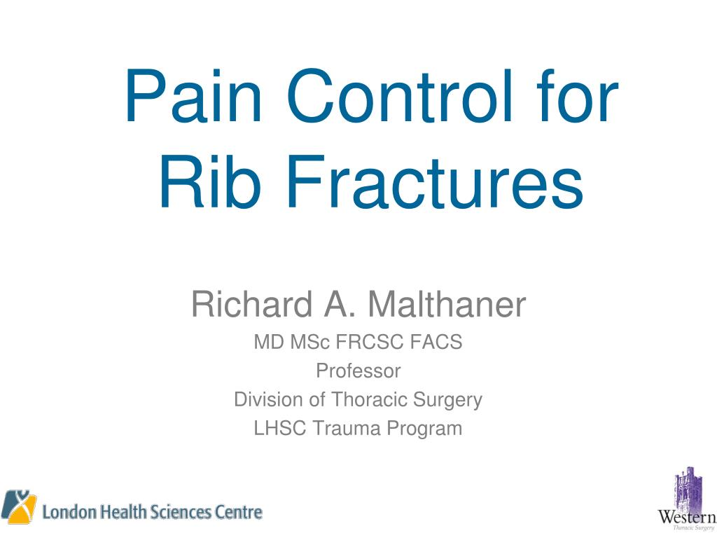 pain control for rib fractures l.