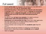 full award