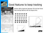 good features to keep tracking
