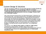 custom design solutions