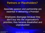 partners or placeholders