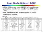 case study dataset dblp