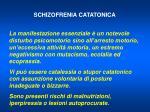 schizofrenia catatonica