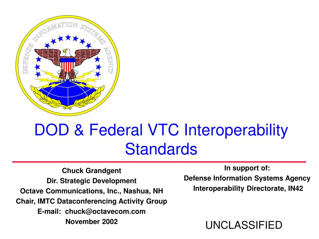 dod federal vtc interoperability standards l.