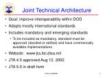 joint technical architecture4
