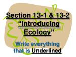 section 13 1 13 2 introducing ecology