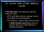 pc cards and flash memory cards