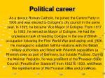 political career