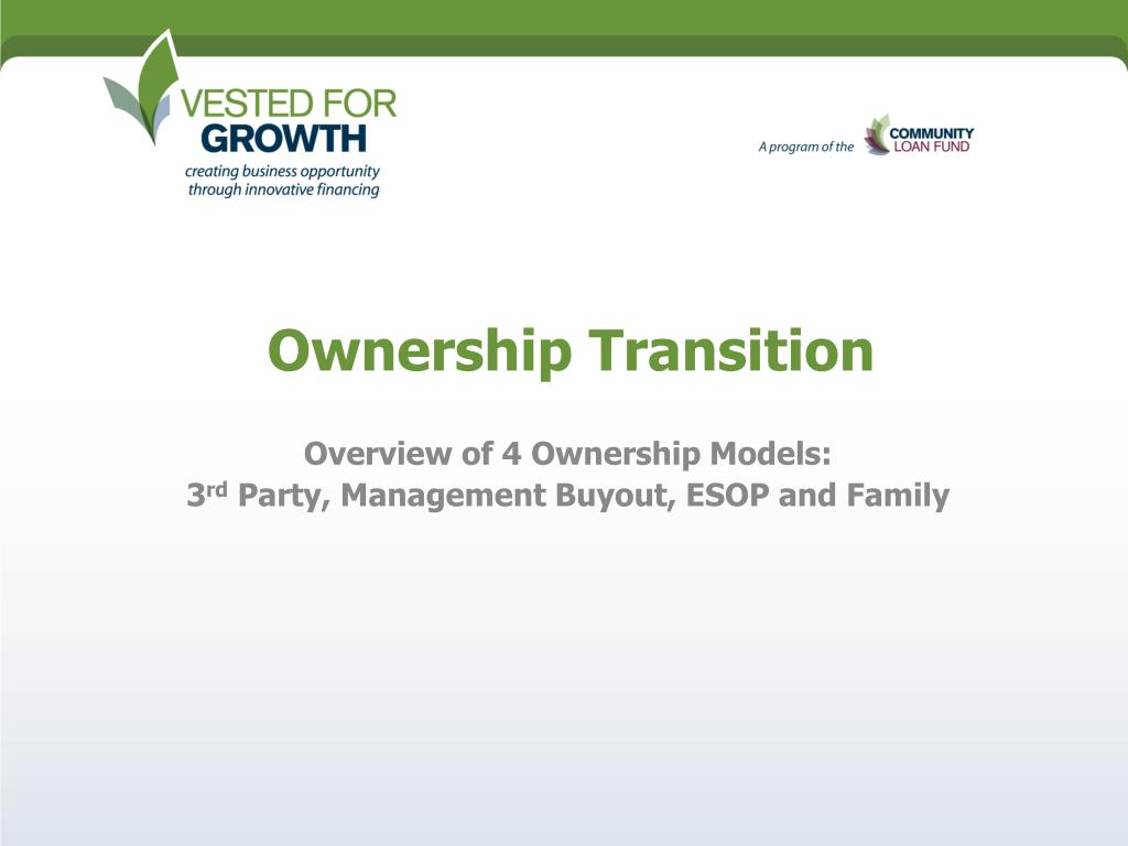 ownership transition l.