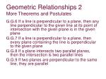 geometric relationships 2 more theorems and postulates