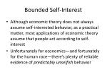bounded self interest