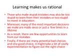 learning makes us rational27