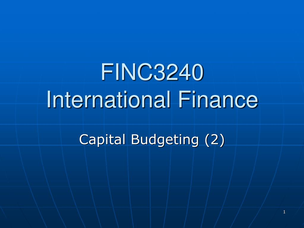 finc3240 international finance l.