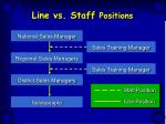 line vs staff positions