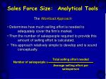 sales force size analytical tools27
