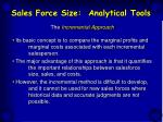 sales force size analytical tools28