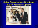 sales organization structures major accounts options