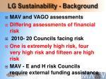 lg sustainability background