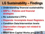 lg sustainability findings