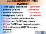 lg sustainability pilot capital